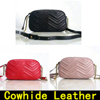 Wholesale camera cross - Camera bag Luxury Handbags high quality Designer Handbags Famous Brands handbag Original Real Cowhide genuine leather Shoulder Bags with BOX