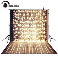 Wholesale custom photo canvas prints for sale - Group buy for photo Allenjoy x7ft Shiny Stage Photography Backdrop a string of festive lights wedding template background for photo studio Custom