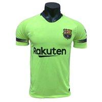 Wholesale fluorescent jerseys - 18-19 football jersey World Cup jersey shirt, main away fluorescent green football suit training suit, I.RAKITIC, MESSI, JORDIAIBA, same shi