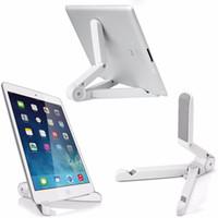 telefon çevirme standı toptan satış-Sıcak Satış Taşınabilir Döner Katlanır Tablet Standı Tutucu Samsung için ipad için Evrensel Tripod Tembel Destek Telefon Braketi