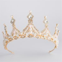 Vintage Baroque Queen King Bride Tiara Crown for Women Headdress Prom Bridal  Wedding Tiaras and Crowns Hair Jewelry Accessories c1a524985924