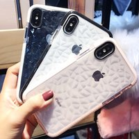Wholesale water resistant case huawei - For iPhone 7 8 Plus Ultra Thin Diamond Grain Soft TPU Phone Back Cover Case For Apple iPhone 6s 8 X Clear Case samsung s8 s9 plus huawei p20