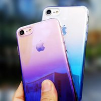 Wholesale iphone pc hard case online - Luxury Phone Case for iPhone S Aurora Gradient Colour Transparent Hard PC Cases for iPhone x xs max Back Cover