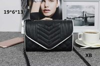 Wholesale small hasp lock online - Luxury Y brand designer shoulder crossbody women fashion designer small bag high quality fashion chain cluth messenger handbag