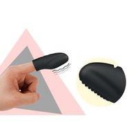 klitoris yüzük toptan satış-Mini Vibratör Bayanlara Tek Hız Silikon Parmak Yüzük Klitoris Stimülatörü G-spot Parmak Dancer Yetişkin Seks ürün Çiftler için Y18101001
