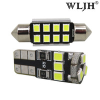 Wholesale H4 Hid Lights - WLJH 14pcs 12v Canbus No Error 2835 Led Car Interior Led Dome Trunk Light Vanity Mirrors Glove Box Lighting LED Interior Light Package