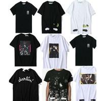 Wholesale Men T Shirt Mix - 2018 T shirt mix 18 styles Classic Narciso Virgil Abloh Classic Short sleeve Tee size S-XL Cotton Fashion Print designer T shirt