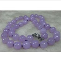 Wholesale white jadeite pendant - Details about NATURE LAVENDER 10MM JADE BEADS JADEITE NECKLACE 18INCH AAA