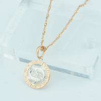 Wholesale FJ Zodiac Sign Gold Color Constellation Rose White Pendants Capricorn Gemini Twisted Necklace Chain Women Men Jewelry