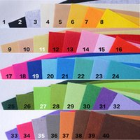 jouets en feutre achat en gros de-40color / set DIY Feutre Tissu Polyester Tissu Feutres Couture Couture Couture Feutre Tissu À La Main DIY Poupées Artisanat pour Jouet