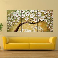 Wholesale oil landscapes painting knives online - Lucky Tree Modern Abstract Oil Painting home decor wall art picture flowers on palette thick knife oil painting