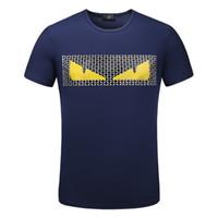 модальные футболки мужские оптовых-Мужская дизайнер футболки Мужская одежда лето повседневная экипаж шеи модальные с коротким рукавом высокое качество мода рубашка для мужчин размер M-3XL