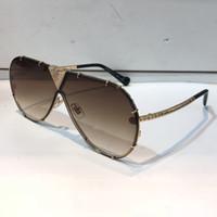 placas de verão venda por atacado-MILIONÁRIO Z1060 Óculos De Sol Com Pedras Pequenas Retro Vintage Designer de Óculos De Sol Brilhante de Ouro Estilo Verão Banhado A Qualidade Superior 1060 com o caso