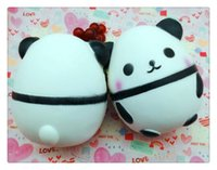 Wholesale Apple Eggs - Panda eggs Squishy Jumbo Cute Panda Kawaii Cream Scented Kids Toys Doll Gift Fun Collection Stress Relief Toy Hop Props