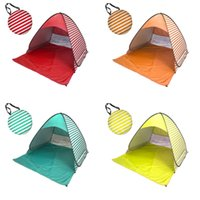 Wholesale outdoor gazebo tents online - Pop Up Canopy Tent For Outdoor Beach UV Protection Shelters Portable Mini Suit Person Gazebo Camping Useful Equipment hy ZZ