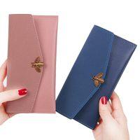 Wholesale Money Envelopes - Women Wallets Lady Handbags Zipper Coin Purse Cards Holder Envelope Bee Money Bags Clutch Female Honeybee Purses Pocket Wallet