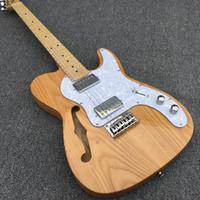 ingrosso corpo alder chitarra-Chitarra elettrica Alder Body F - hole TL, manico in acero con tastiera in acero, Hardware cromato, spedizione gratuita!
