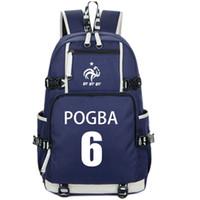 Wholesale paul pogba resale online - Paul Pogba backpack France fans day pack Football star school bag Leisure packsack Quality rucksack Sport schoolbag Outdoor daypack