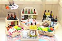 ingrosso scatole in miniatura della stanza della bambola-1:12 scala 1: 6 scatola di legno frutta vino cubetti di ghiaccio calice casa delle bambole giocattolo miniatura magnete frigo bambola cucina accessori camera