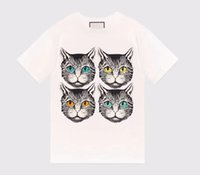 Wholesale Mens Split Shorts - 2018 Luxury brand Designer Original with logo lovers unisex cat head G girl T-shirt cotton couple boy girl boy mens hoodie jerseys K