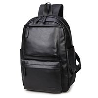 Wholesale Pretty Males - NEW Pretty Style Leather Men Black Backpack Fashion Famous Brand Male Casual Boys School Shoulder bags for Men's Backpack