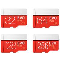 mais comprimidos venda por atacado-256 GB 128 GB 64 GB 32 GB Preto EVO PLUS TF Flash Card 95 MB / s de Alta Velocidade de Classe 10 Rápido para Câmeras Telefones Inteligentes Tablet PC