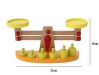 puzzle spiel holz großhandel-Blocks Bricks Montessori Lehrmittel Holz Balance Baby Balance Spiel Tianping Holz Puzzle Kinderspielzeug Kindergarten Geschenk