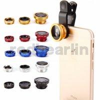 teleskopaugen großhandel-3 in 1 iphone 6 6s set Fischaugenobjektiv Samsung Mikroskop Objektiv Teleskop Weitwinkelobjektiv für alle mit Clip