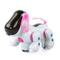 Wholesale Walking Toys Babies - New Intelligent Electronic Walking Pet Robot Dog Puppy Baby Friend Partner Gift With Music Light Dog Toys For Children Kids