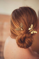 Wholesale united states decorations for sale - Group buy 2018 new Europe and the United States fashion hair decoration simple Han Prologue decoration metal butterfly women s Baccarat side