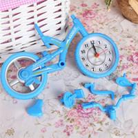 cor da moldura da foto venda por atacado-Despertador bicicleta Photo Frame Vintage Quartz Originalidade Crianças Estudante Decoração de Natal Presente Estudo Ornamento Cor Pura 5 7pt bb