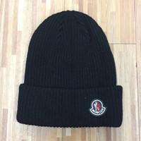 ragbi şapkaları şapkaları toptan satış-MON Kasketleri Erkek Kadın Mektup Nakış Kasketleri Pom-pom Örme Kapaklar Erkek Kadın Spor Pom-pom Kayak Şapka Yüksekliği Kaliteli