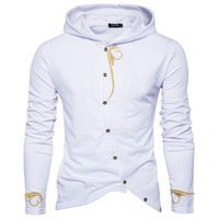 hoodies equipados coreano venda por atacado-2018 Outono Novo Comércio Exterior Com Capuz Camisola Masculina Personalidade Homens Hoodies Com Capuz Capuz Slim Fit Moleton Masculino Hoodies