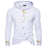 monte hoodies korece toptan satış-2018 Sonbahar Yeni Dış Ticaret Kapüşonlu Sweatshirt Erkek Kişilik Kore Erkekler Hoodies Kapşonlu Slim Fit Moleton Masculino Hoodies