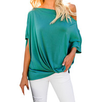 Wholesale wholesale womens clothing - Summer Tops For Womens Tops and Blouses Streetwear One Shoulder Shirts Feminina Blouse Tunic Ladies Top Casual Clothes