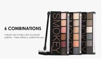 Wholesale glamorous makeup resale online - Free DHL new FOCALLURE Colors Eyeshadow Palette Glamorous Smokey Eye Shadow Shimmer Colors Makeup Kit