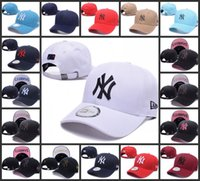 Wholesale Baseball Hats New York Embroidery Yankees Hip Hop bone Snapback for Men Women hat Adjustable Casquette Unisex