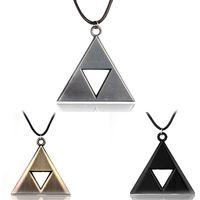 Wholesale triangle necklace pendant men - SAVORI Legend of Zelda Triangle Flag Pendant Necklace for Women Men Gifts Alloy Necklace Wholesale Jewelry