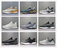 Wholesale alpha leather - 2018 Kolor Alphabounce Beyond Boost 330 Running Shoes Alpha bounce Hpc Ams 3M Sports Trainer Sneakers Man Shoes With Box Size 7-11