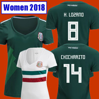 Wholesale Green Girls Shirt - Thailand Camisetas Mexico WOMEN soccer jersey 2018 CHICHARITO LOZANO MARQUEZ DOS SANTOS GUARDADO girls football shirt camisa de futbol