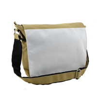 Wholesale custom photo canvas prints resale online - Canvas schoolbag for sublimation bags for your custom photo heat tranfer printing blank Khaki single shoulder bag