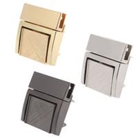 высококачественные замки оптовых-Buckle Twist Lock Hardware For Bag Shape Handbag DIY Handmade Bag Turn Locks Bags Clasp High Quality Metal Lock