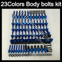 kit completo de carenado ninja al por mayor-Kit completo de tornillos de carenado Para KAWASAKI NINJA ZX6R 00 01 02 ZX 6R ZX 6 R 00 02 ZX-6R 2000 2001 2002 Tuercas de cuerpo tornillos tuercas kit de tornillos 23Colores