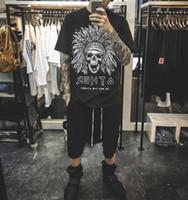 индийская принт хлопок t рубашка оптовых-Sumemr Рокки стиль Индийский печатных женщины мужчины футболки тройники хип-хоп уличная одежда мужчины с коротким рукавом хлопок Майка