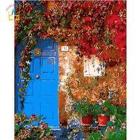 акриловая краска пейзаж оптовых-пейзаж акриловые краски художественные картины по номерам ручная роспись модульные картины для рисования домашнего декора на стене WYA049