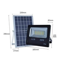 Wholesale wholesale induction lighting - Remote control Solar power lights outdoor 30W 50W 100W 150W light induction garden LED floodlights waterproof White double color wholesale