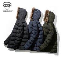 boutique de trincheiras venda por atacado-Chegada nova do inverno estilo homens boutique longo algodão acolchoado roupas de alta qualidade moda casual zíper dos homens quente sólida trench coat