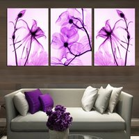 Wholesale flowers pieces arts painting pictures resale online - Modular HD Print Art Abstract Flowers Pieces Home Decor New Arrive in Canvas painting On Wall For Living Room