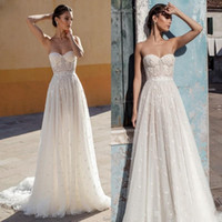 Wholesale strapless fitted backless wedding dresses for sale - Gali Karten New Summer Lace Wedding Dresses Bridal Gowns A Line Sweetheart Backless Appliques Pearls Fitted Long