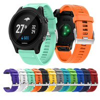 Wholesale Fits Silicone Wristbands - Silicagel Silicone Quick Fit Band Wrist Strap Watch Band Watchband Bracelet Wristband for Garmin Forerunner 935 watch